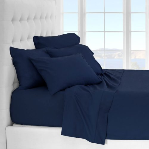 best college dorm bedding - Premium 1800 Ultra-Soft Microfiber Sheet Set Twin Extra Long - Double Brushed - Hypoallergenic - Wrinkle Resistant (Twin XL, Dark Blue)