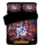 AMTAN 3D Marvel Avengers Duvet Cover Set Spider-Man Iron-Man Best Gifts for Movie Funs 100% Microfiber Bedding Children Cartoon 3-Piece Bet Set 1Duvet Cover 1Pillowshams King Queen Full Twin at Lux Comfy Bedding