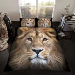 Lion King Size Duvet Cover and Pillowcase Set at luxcomfybedding.com