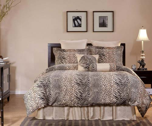 Pointehaven 8-Piece 100-Percent Cotton Luxury Bedding Ensemble, Urban Safari, Queen at luxcomfybedding.com