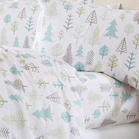 Home Fashion Designs Stratton Collection Extra Soft Printed 100% Turkish Cotton Flannel Sheet Set. Warm, Cozy, Lightweight, Luxury Winter Bed Sheets. (Full, Winter Forest)