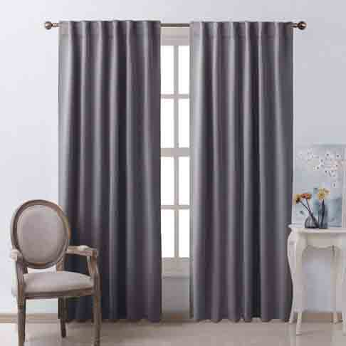 Spring Bedding Collection and Matching Curtains - NICETOWN Blackout Curtain Panels Window Draperies - (Grey Color) 52x84 Inch, 2 Pieces, Insulating Room Darkening Blackout Drapes for Bedroom