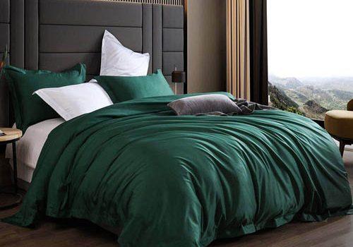 Emerald Green Bedding & Matching Curtains