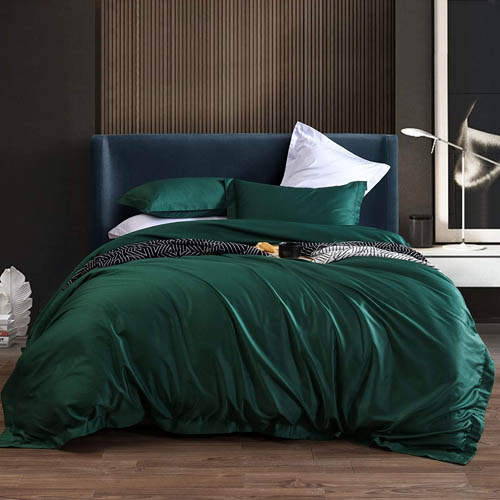 L LOVSOUL Duvet Cover King,3 Piece Bedding Sets 100% Egyptian Cotton 1200 Thread Count Comforter Cover and 2 Pillow Cases,Green-106x90Inches
