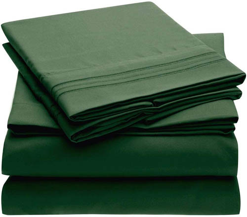 Emerald Green Bedding Mellanni Bed Sheet Set.