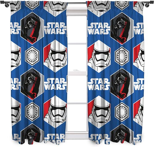 Star Wars Bedding and Curtain Set - Disney Star Wars Awaken Ready Made and to Hang Curtains 66 in x 54 in