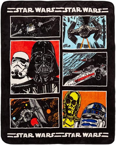 Star Wars Bedding and Curtain Set - Jay Franco Star Wars Classic Throw Blanket (Offical Product), Medium