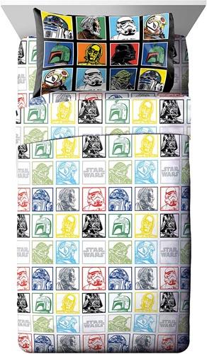 Star Wars Bedding and Curtain Set - Star Wars Classic 3 Piece Twin Sheet Set